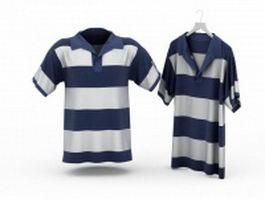 Striped T-Shirts 3d model