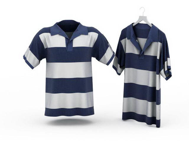 Striped T Shirts 3d Model 3ds Max Files Free Download