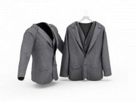 Grey suits 3d model