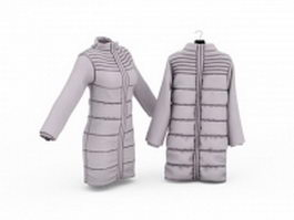Long down coats 3d model