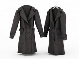 Overcoats for men 3d model