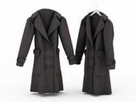 Overcoats for men 3d model