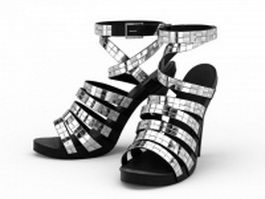 Spike heel gladiator sandals 3d model