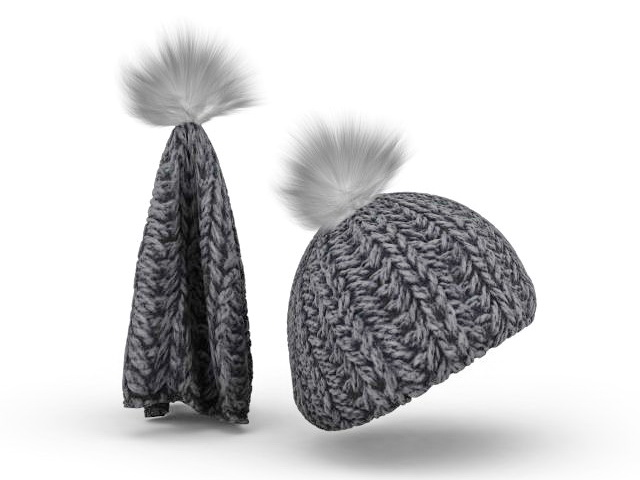 Wool Knit Hat 3d Model 3ds Max Files Free Download