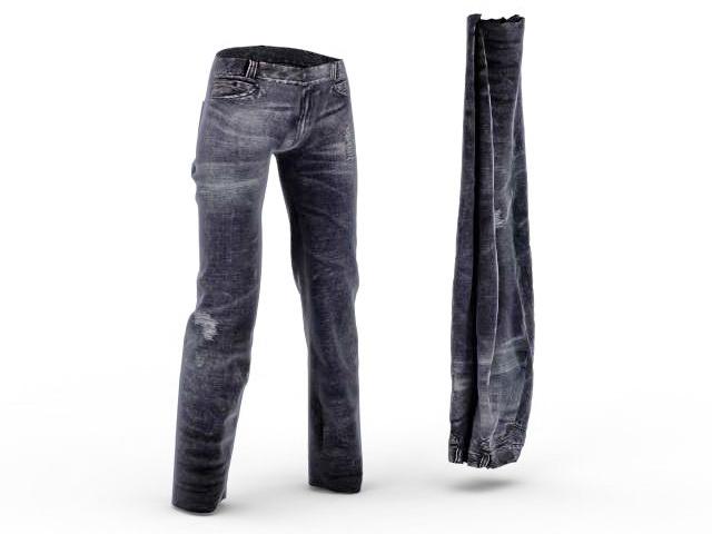 Ripped Jeans 3d model - CadNav