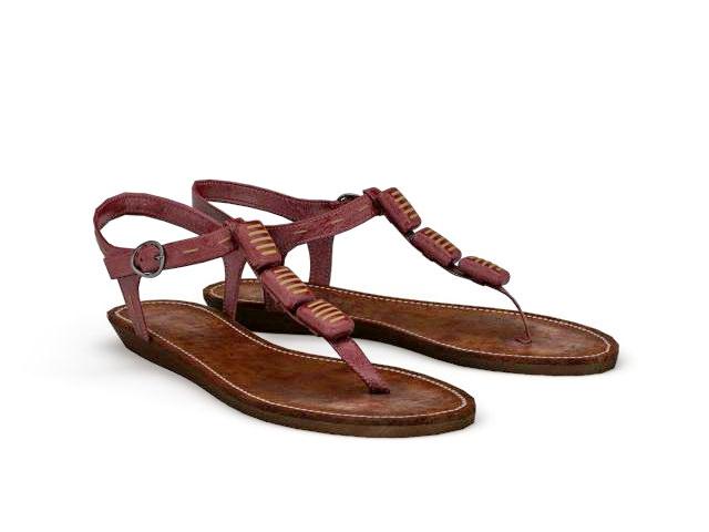 Flip Flop Sandals 3d model - CadNav