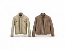Jackets for men 3d model