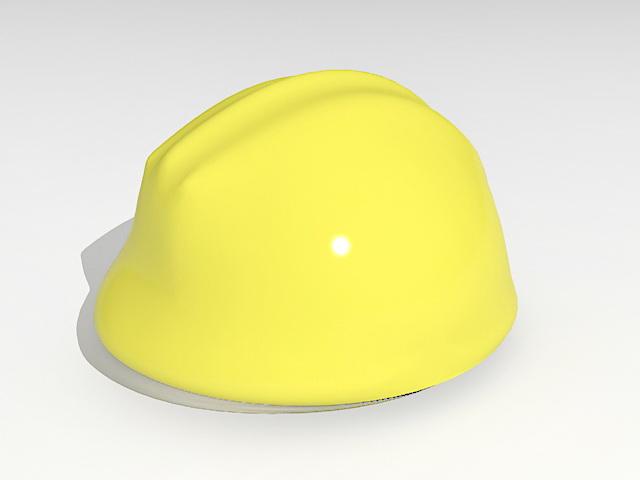 Yellow safety helmet 3d rendering