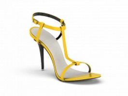 Spike heel sandal 3d model
