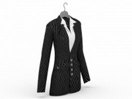Office lady business suit 3d model