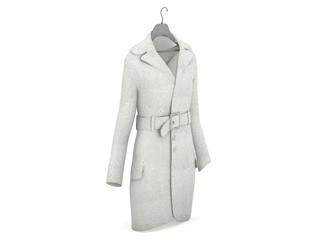 Cotton trench coat 3d rendering