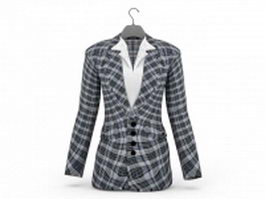 Plaid suit jacket 3d model