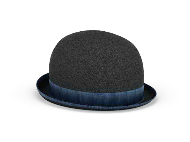 3D model of derby bowler hat. Available 3d file format  .max (3ds max)  Texture type  jpg. You can free download this 3d objects and put it into  your scene de92d39e0afd