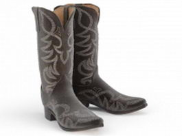 Cowgirl boots 3d model