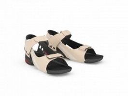 Summer sandals for men 3d model