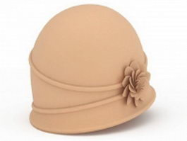 Spring cloche hat 3d model