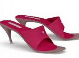 Sexy high heel slippers 3d model