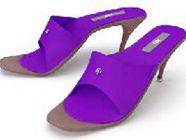 High heel slippers 3d model