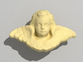 Bas-relief angel 3d model
