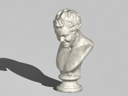 Greek Satyr statue 3d model