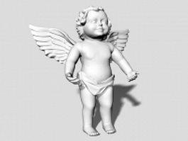 Baby angel statue 3d model