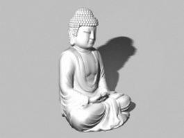 Sitting buddha garden statue 3d model