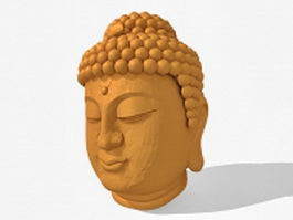 Buddha head sculpture 3d model