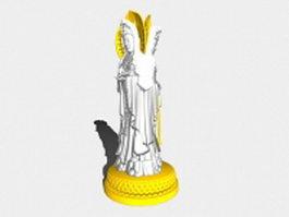 Guanyin Buddha statue 3d model