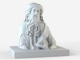 Roman bust statue 3d model