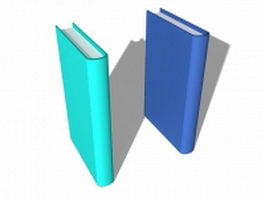 Books with blank cover 3d model