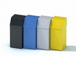 Recycle bin trash can 3d model