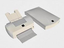 Scanner and printer 3d model