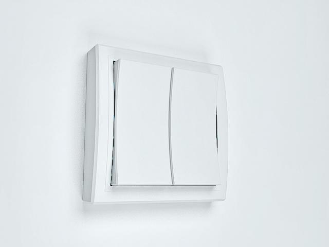 Gang 2 way light switch 3d model 3D Studio,3ds Max files free ...