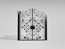 French wrought iron gate 3d model