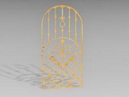 Vintage bronze gate 3d model