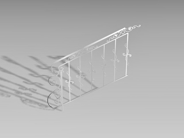 Steel stair railing 3d model 3D Studio,3ds Max,AutoCAD files free