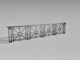 Pedestrian guardrail 3d model