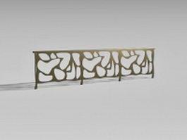Bronze stair rails 3d model
