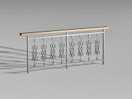 Deck railings 3d model