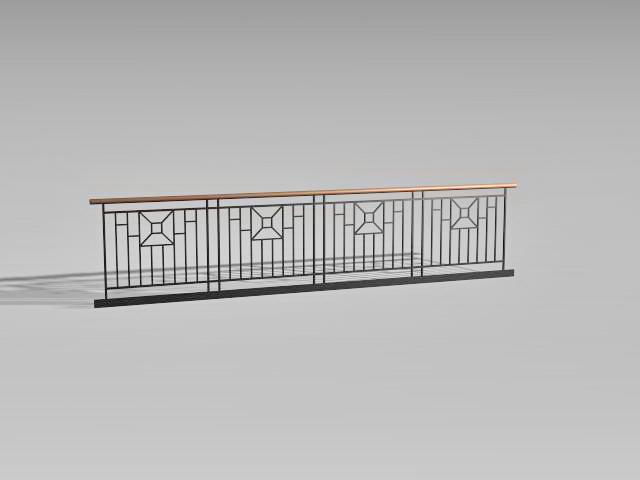Iron Deck Railing 3d Model 3d Studio 3ds Max Autocad Files