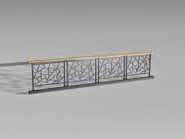 Metal deck railing panels 3d model