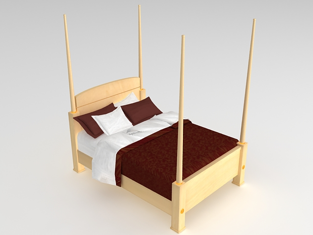 Pencil post bed 3d model