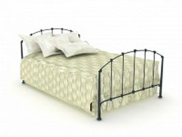 Antique wrought iron bed 3d model