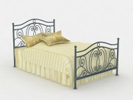 Victorian iron bed 3d model