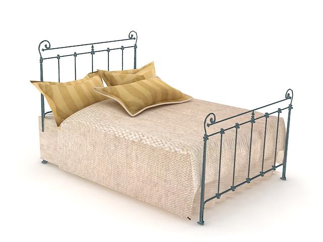 Antique iron bed 3d model