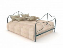 Contemporary metal bed 3d model
