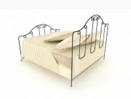 French iron bed 3d model
