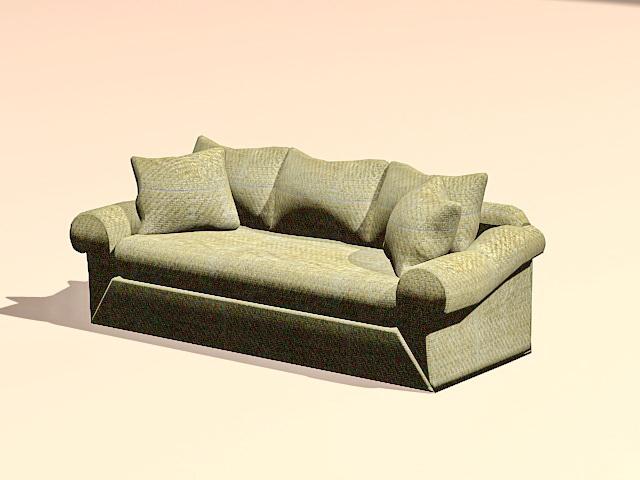 Fabric sofa settee 3d model 3ds MaxAutoCAD files free  : cadnav 160414095914 50 from www.cadnav.com size 640 x 480 jpeg 67kB