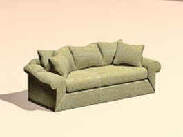 Fabric sofa settee 3d model