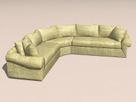 Corner sectional sofa 3d model
